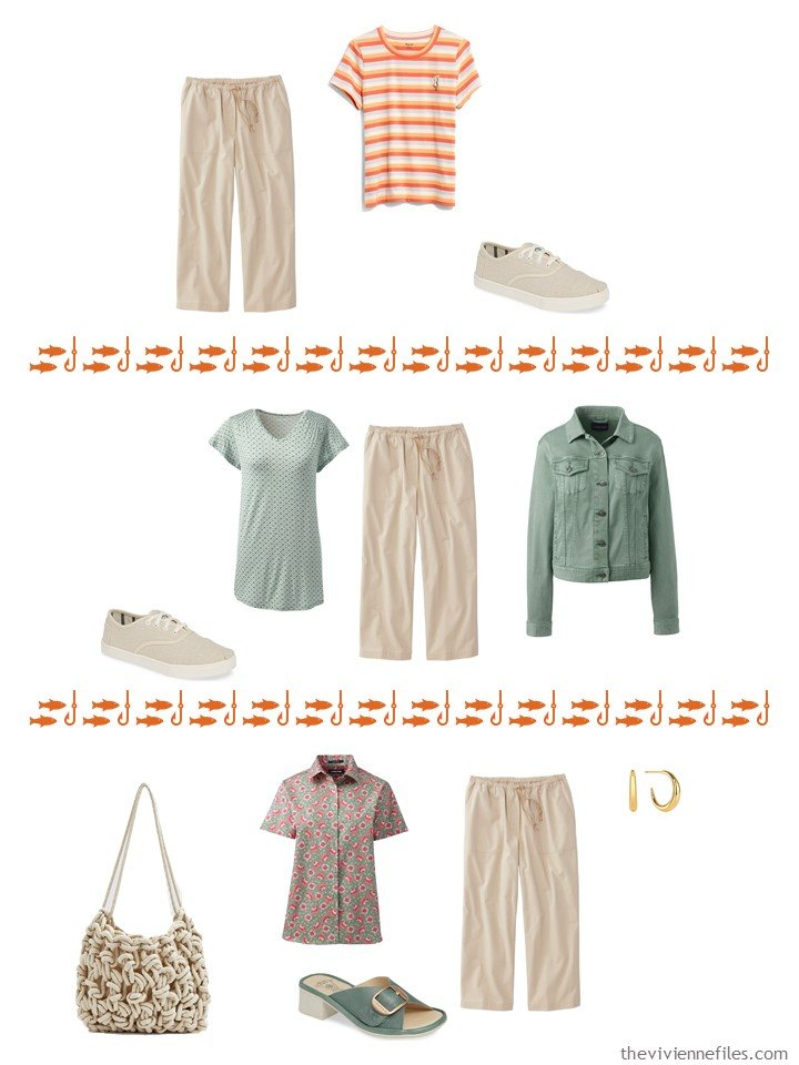11. 3 ways to wear beige cropped pants from a capsule wardrobe