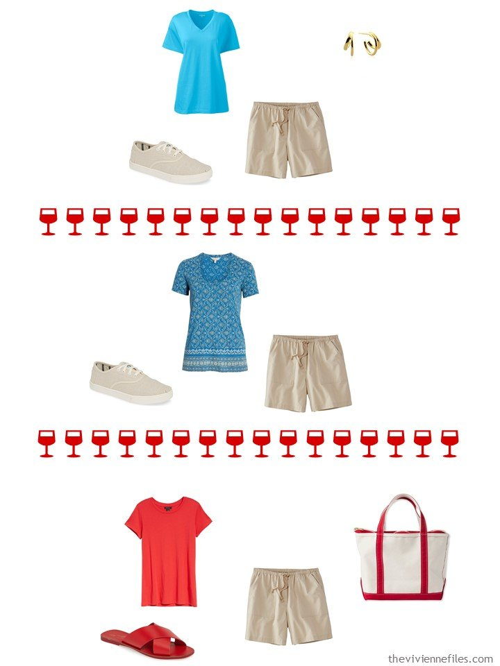 11. 3 ways to wear beige shorts from a capsule wardrobe