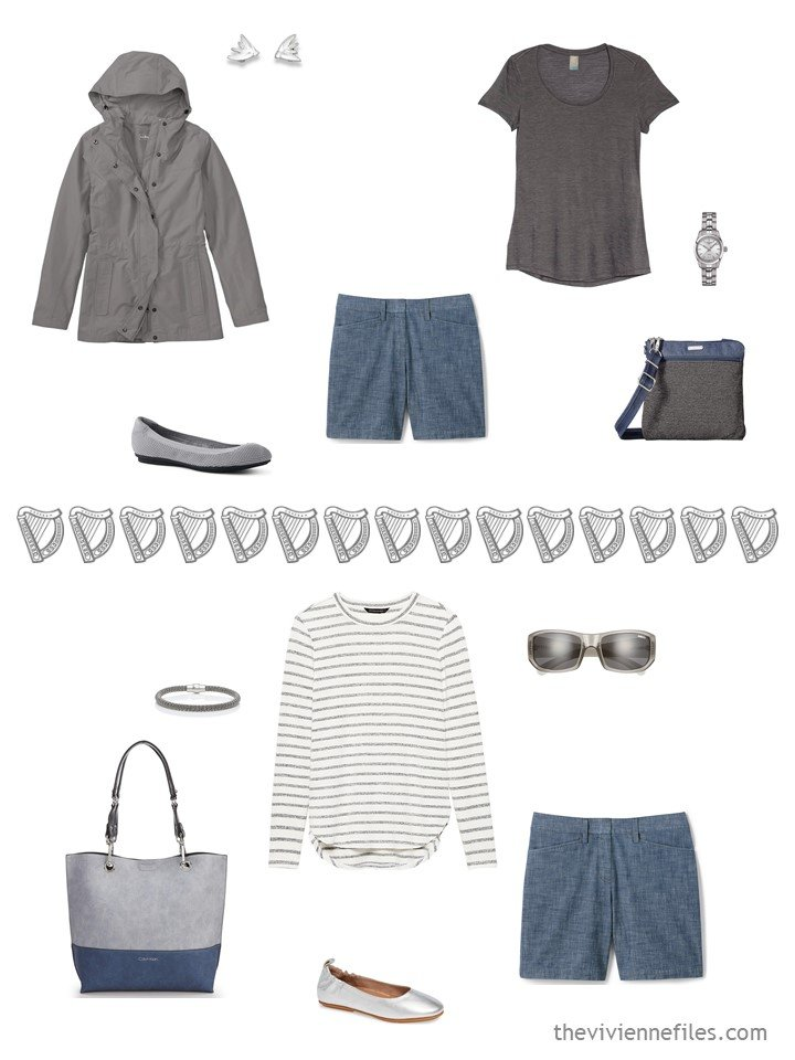 12. 2 ways to wear chambray shorts from a travel capsule wardrobe