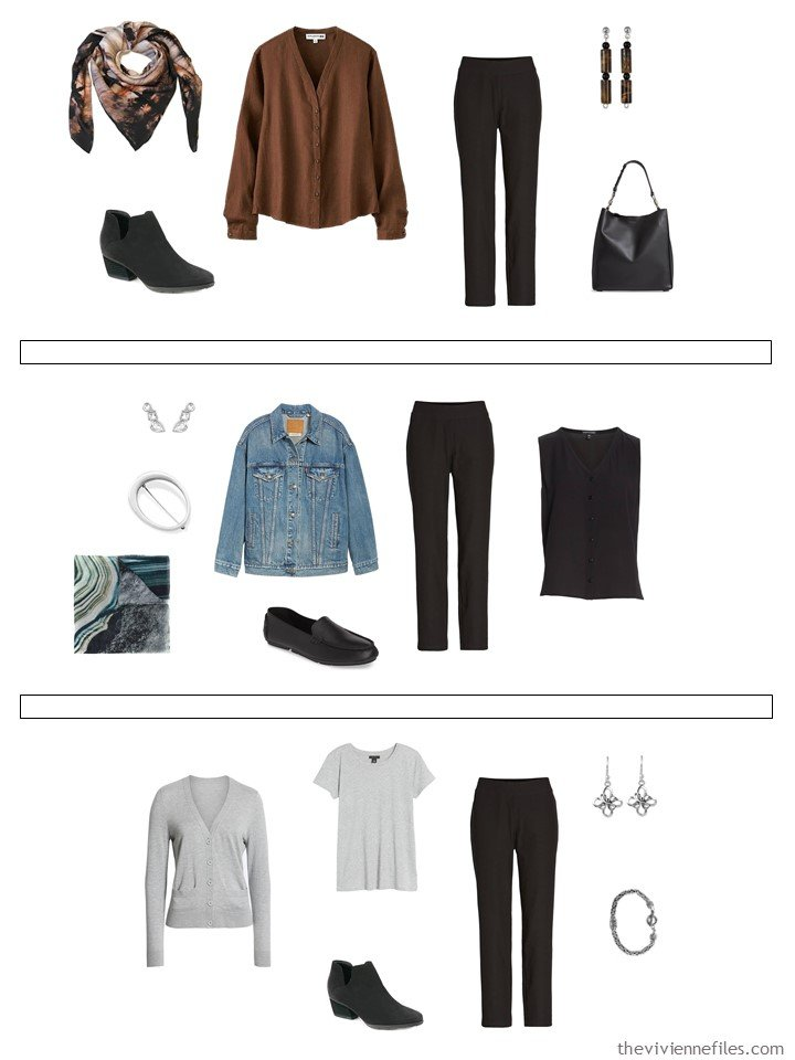 14. 3 ways to wear black pants from a capsule wardrobe