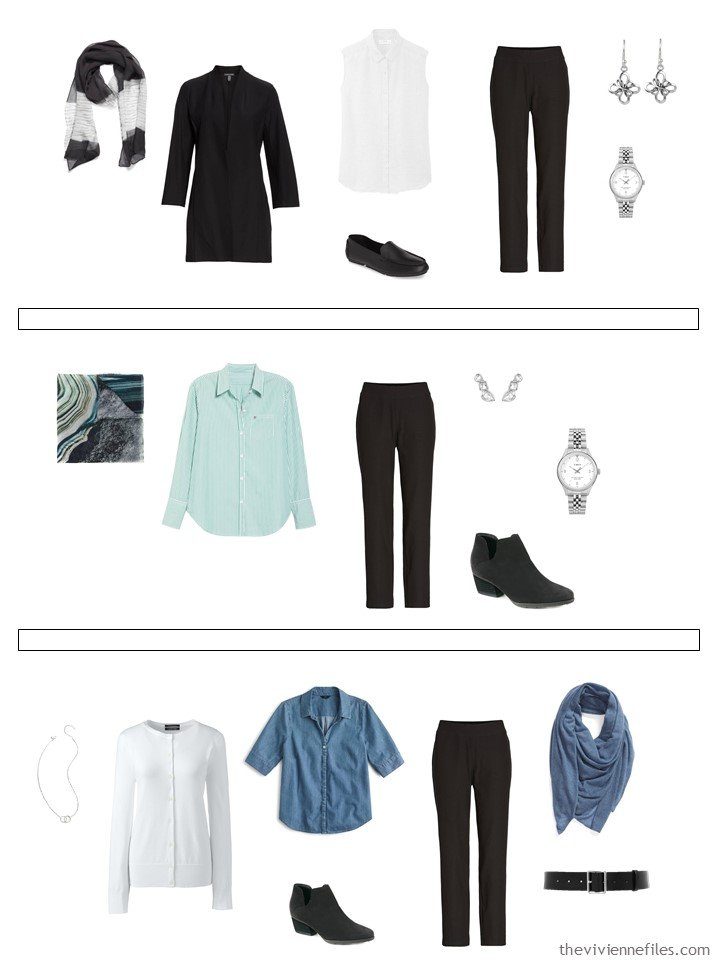 15. 3 ways to wear black pants from a capsule wardrobe