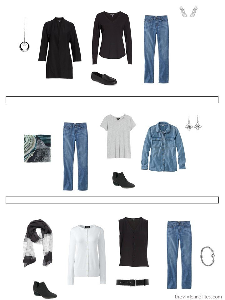 16. 3 ways to wear jeans from a capsule wardrobe