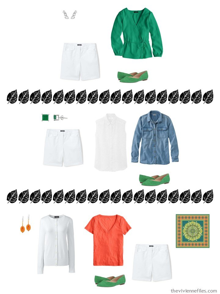 17. 3 ways to wear white shorts from a capsule wardrobe