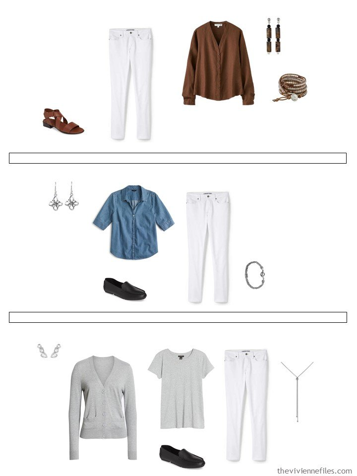 18. 3 ways to wear white jeans from a capsule wardrobe