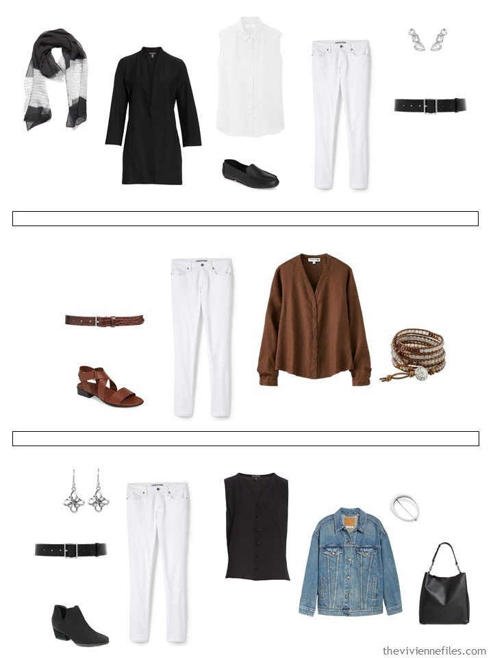 19. 3 ways to wear white jeans from a capsule wardrobe