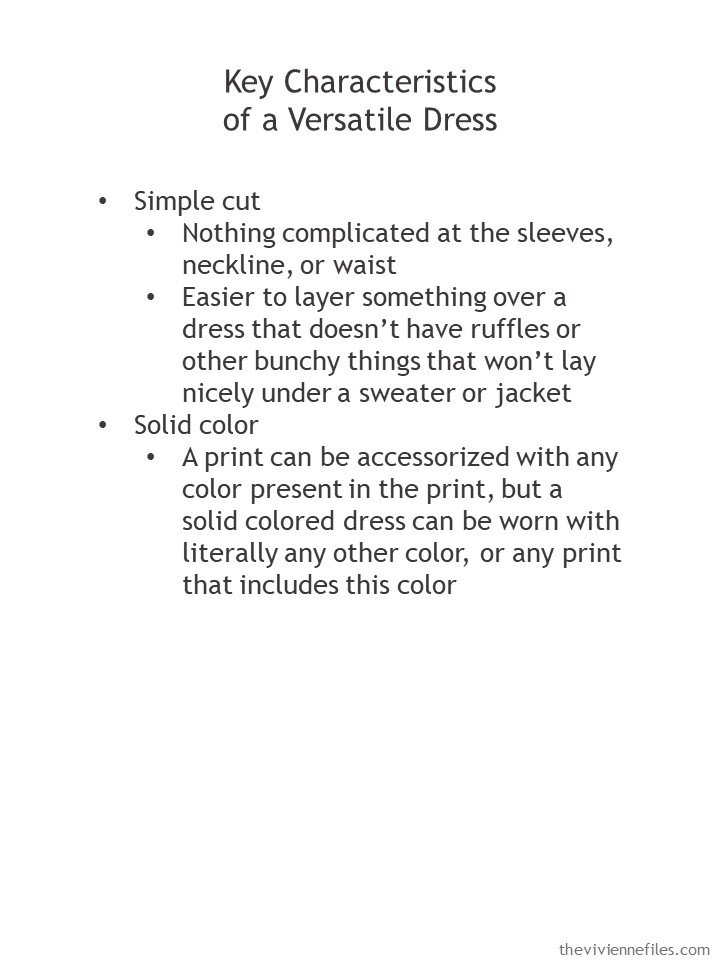 2. guidelines for buying a versatile dress