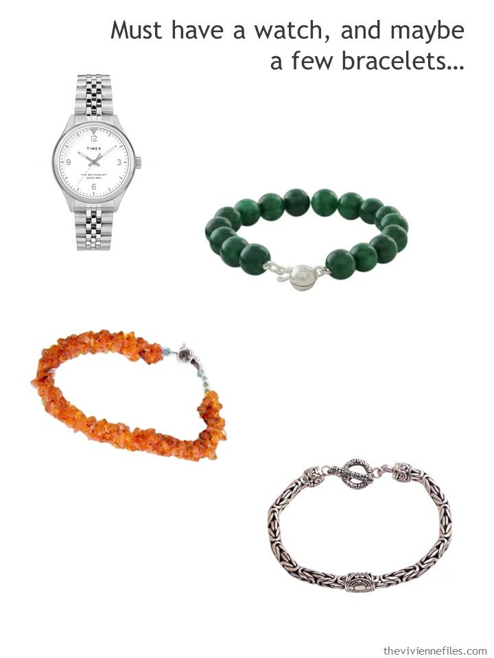 4. adding a watch and bracelets to a 4 by 4 Wardrobe