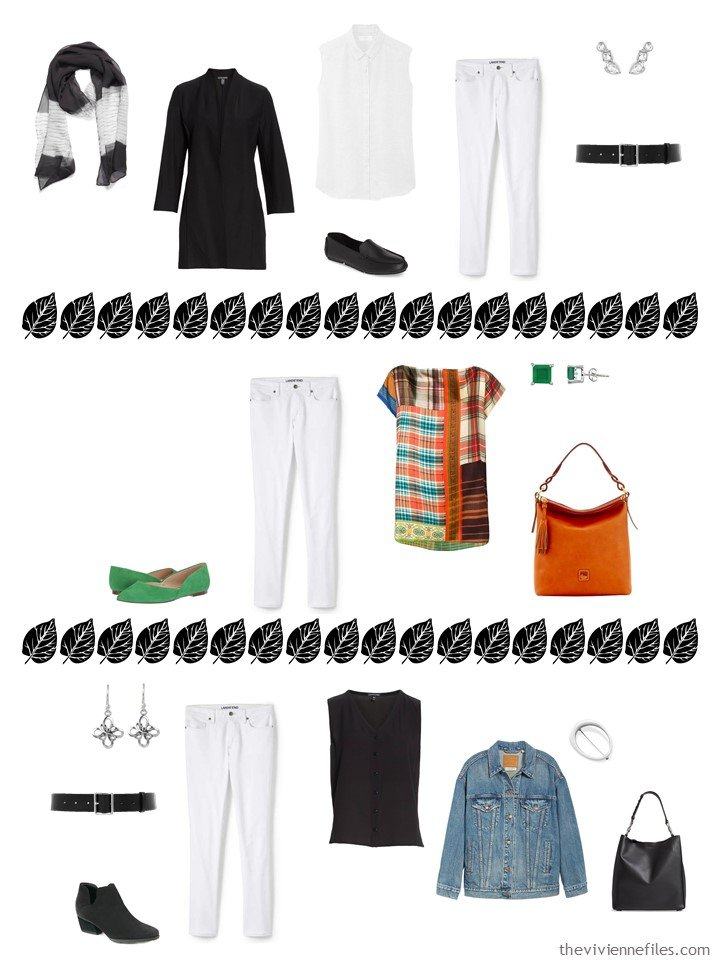 5. 3 ways to wear white jeans from a capsule wardobe