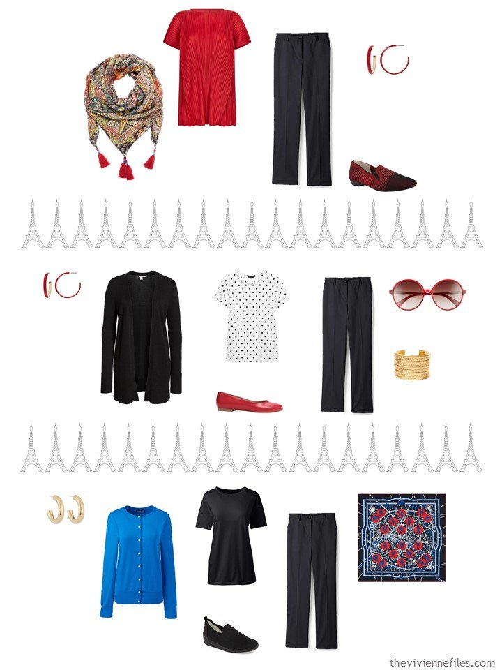 6. 3 ways to wear black pants from a travel capsule wardrobe