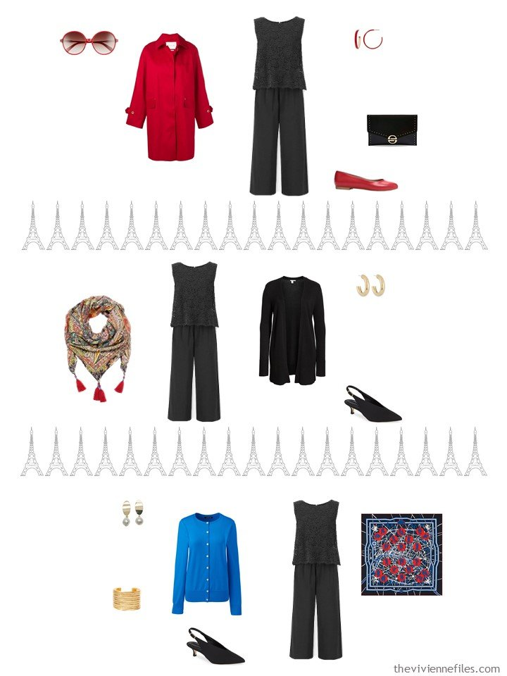 7. 3 ways to wear a black jumpsuit from a travel capsule wardrobe