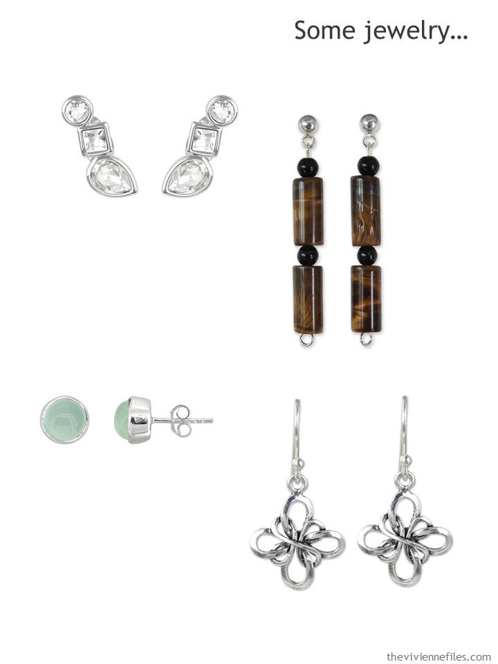 7. adding earrings to a capsule wardrobe