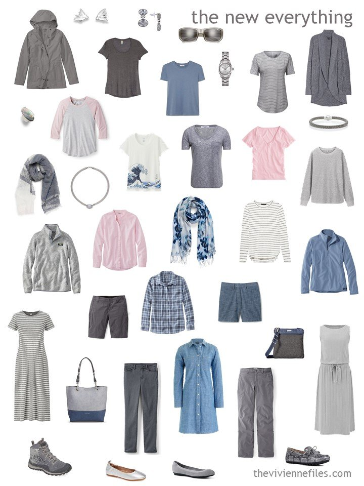 7. travel capsule wardrobe with accessories