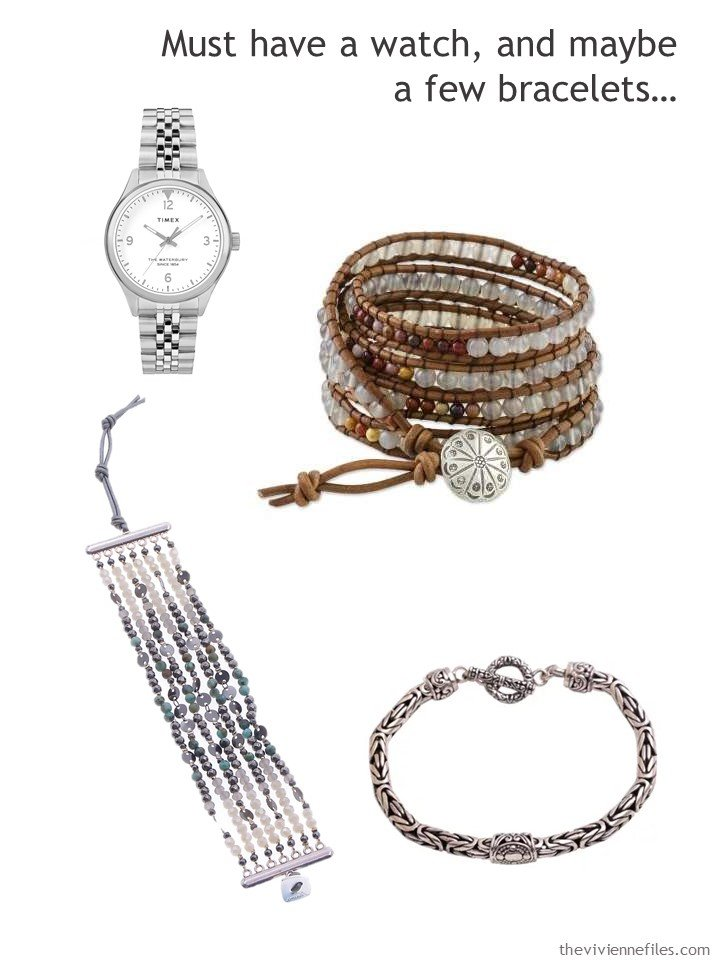 8. adding a watch and bracelets to a capsule wardrobe