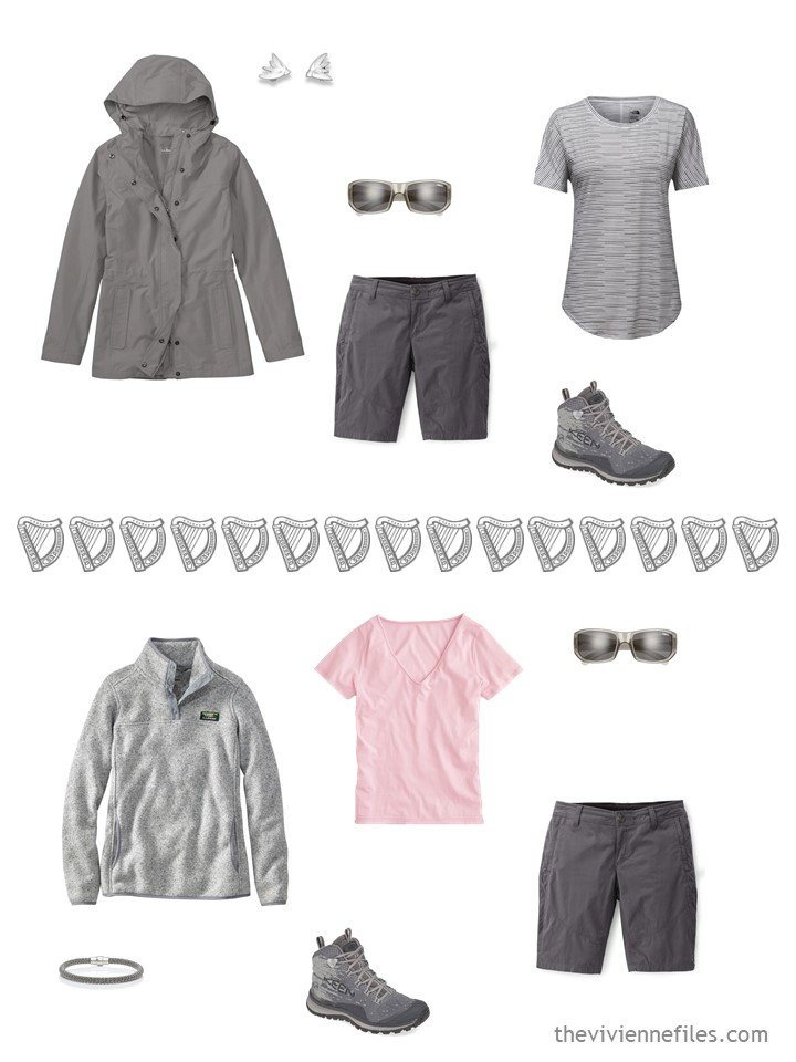 9. 2 ways to wear grey shorts from a travel capsule wardrobe