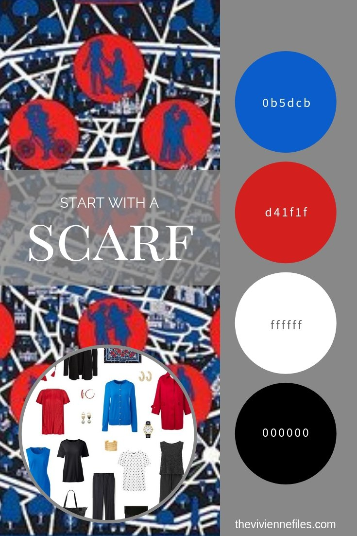 CREATE A CAPSULE WARDROBE INSPIRED BY A SCARF - HERMÈS LES NOUVEAUX AMOUREUX DE PARIS