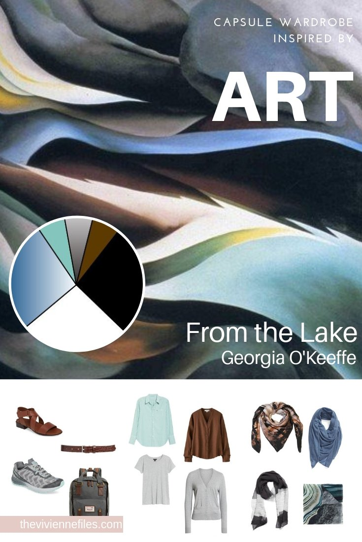 CREATE A TRAVEL CAPSULE WARDROBE INSPIRED BY FROM THE LAKE BY GEORGIA O'KEEFFE