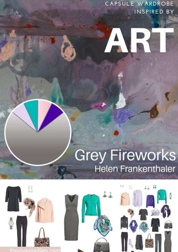 A TRAVEL CAPSULE WARDROBE INSPIRED BY GREY FIREWORKS BY HELEN FRANKENTHALER