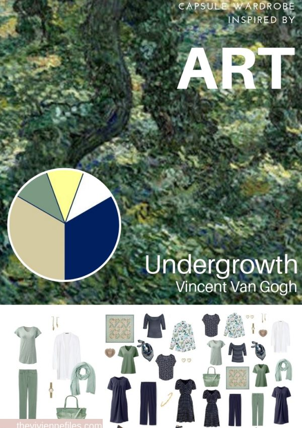 CREATE A CAPSULE WARDROBE INSPIRED BY ART: UNDERGROWTH BY VINCENT VAN GOGH
