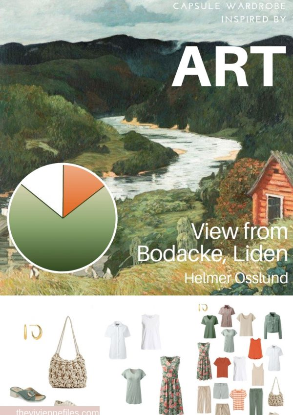 CREATE A CAPSULE WARDROBE INSPIRED BY ART: VIEW FROM BODACKE, LIDEN BY HELMER OSSLUND