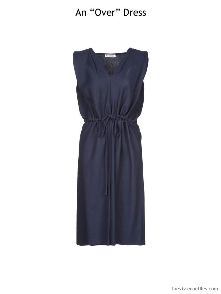 1. Navy Jil Sander dress