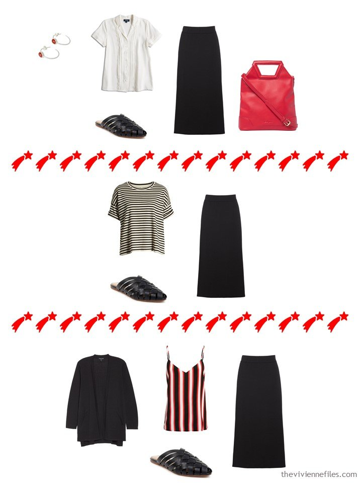 10. 3 ways to wear a black skirt from a travel capsule wardrobe