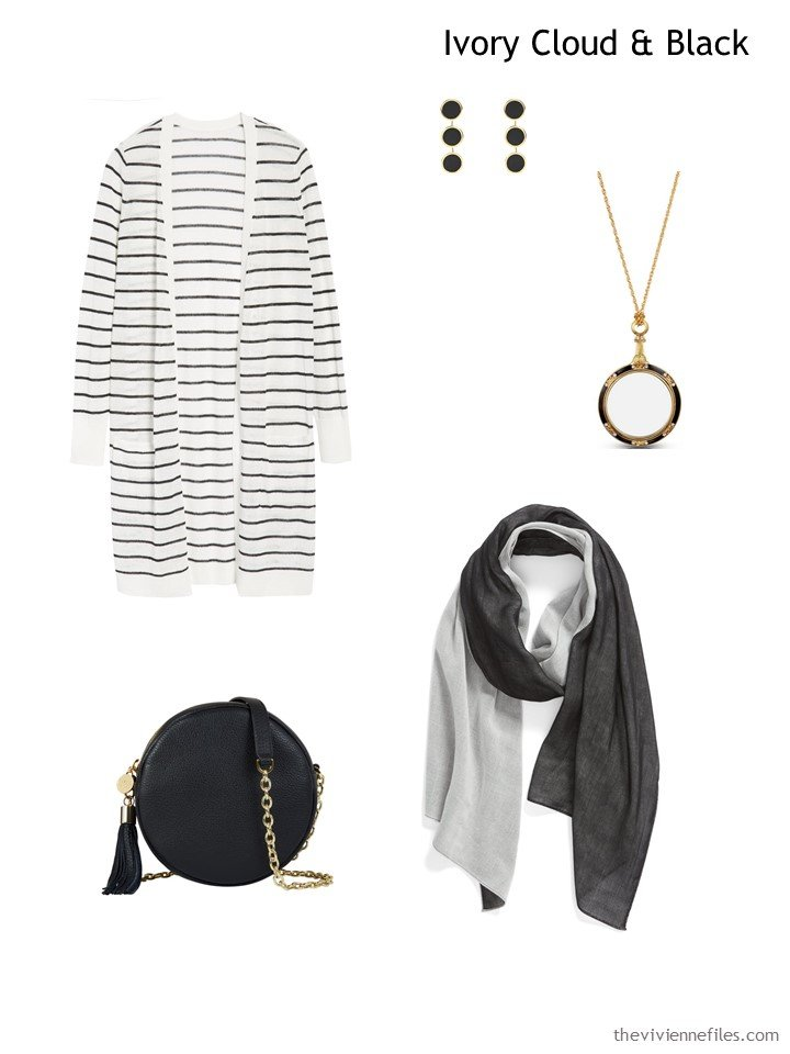 10. Ivory Cloud & Black French 5-Piece Wardrobe