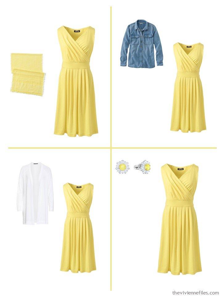 11. 4 ways to wear a pale pineapple dress