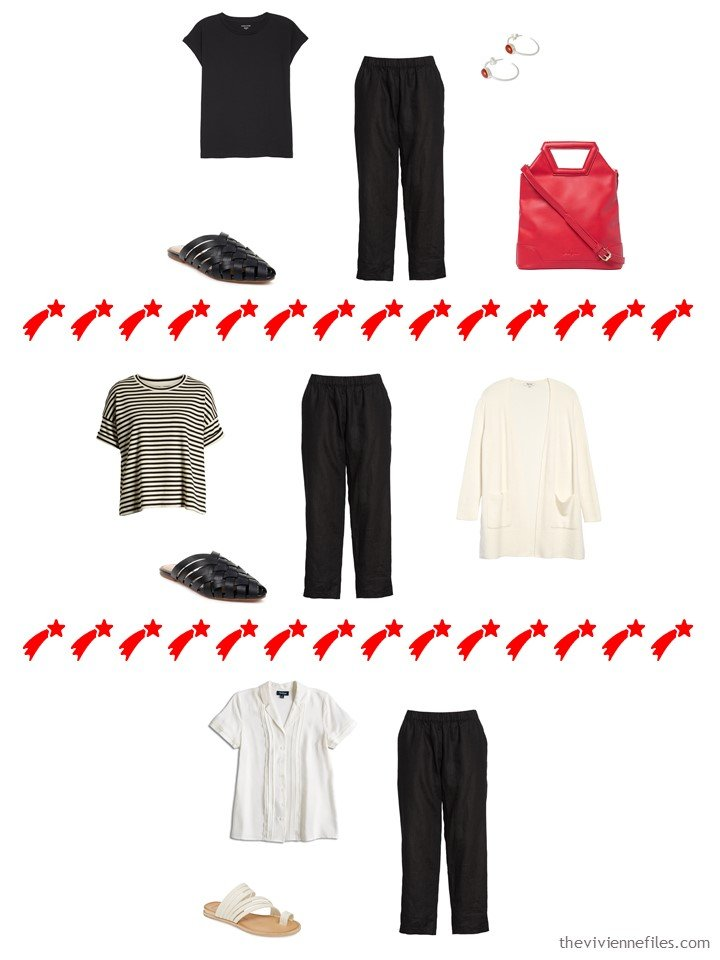 12. 3 ways to wear black pants from a travel capsule wardrobe