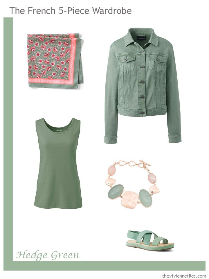 12. French 5-Piece Wardrobe in Hedge Green