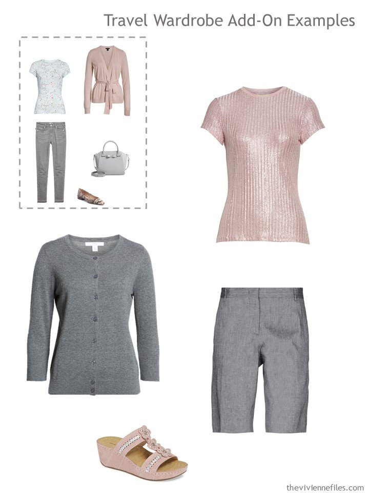 15. 1st outfit to pack, in grey and pink