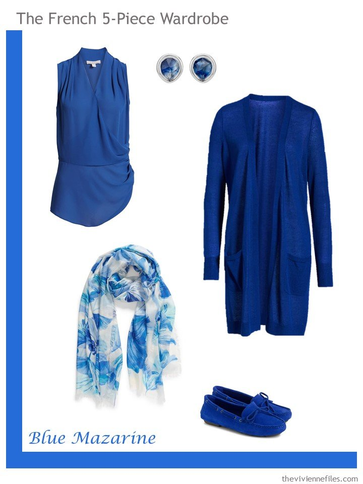15. French 5-Piece Wardrobe in Blue Mazarine