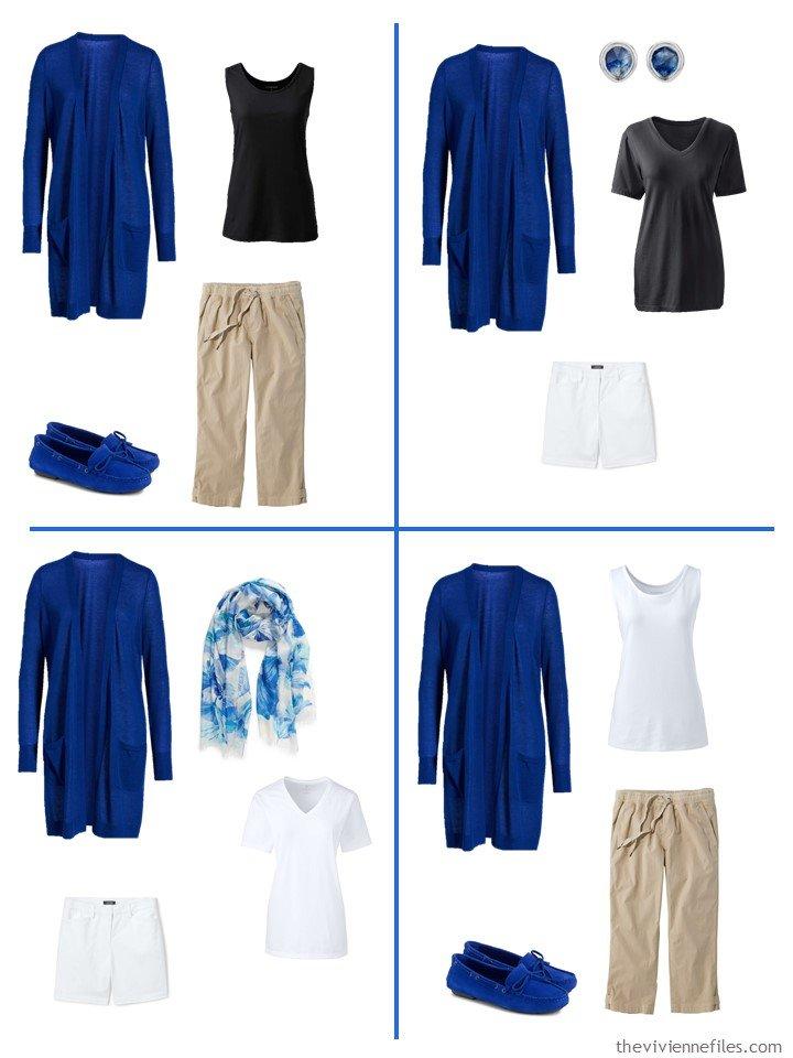17. 4 ways to wear a blue mazarine cardigan