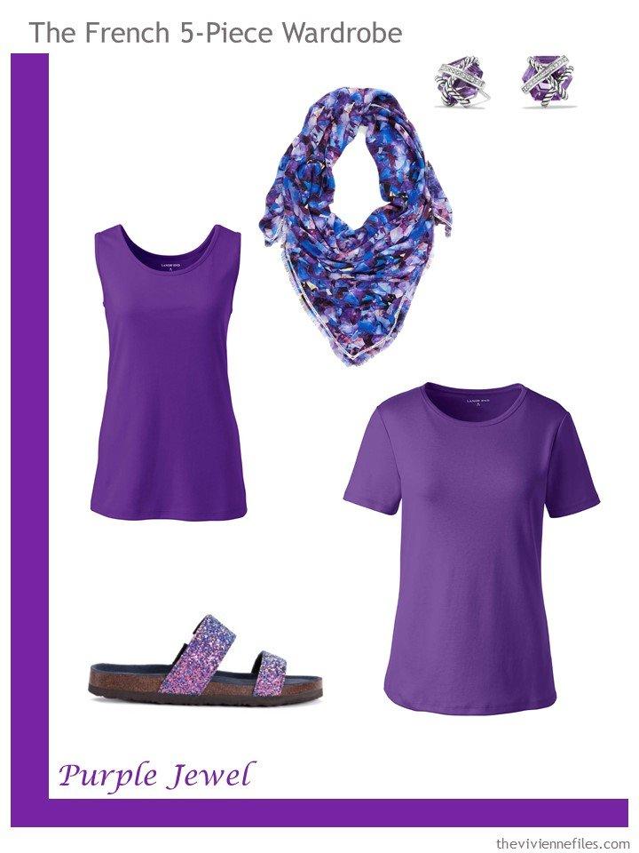 18. French 5-Piece Wardrobe in Purple Jewel