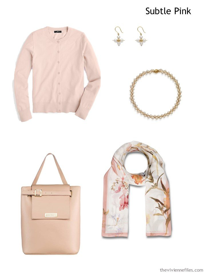2. Subtle Pink French 5-Piece Wardrobe