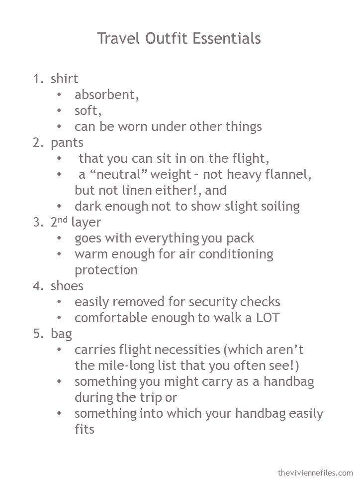 2. guidelines for a travel outfit