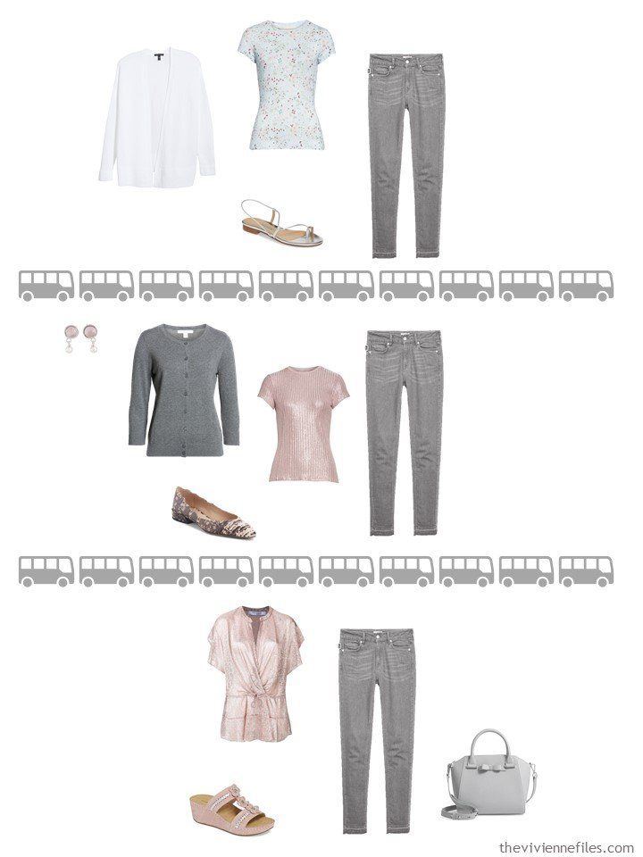 20. 3 ways to wear grey pants from a travel capsule wardrobe