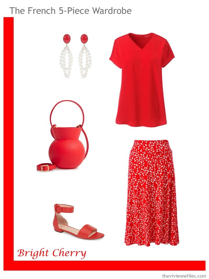3. French 5-Piece Wardrobe in Bright Cherry for warm weather