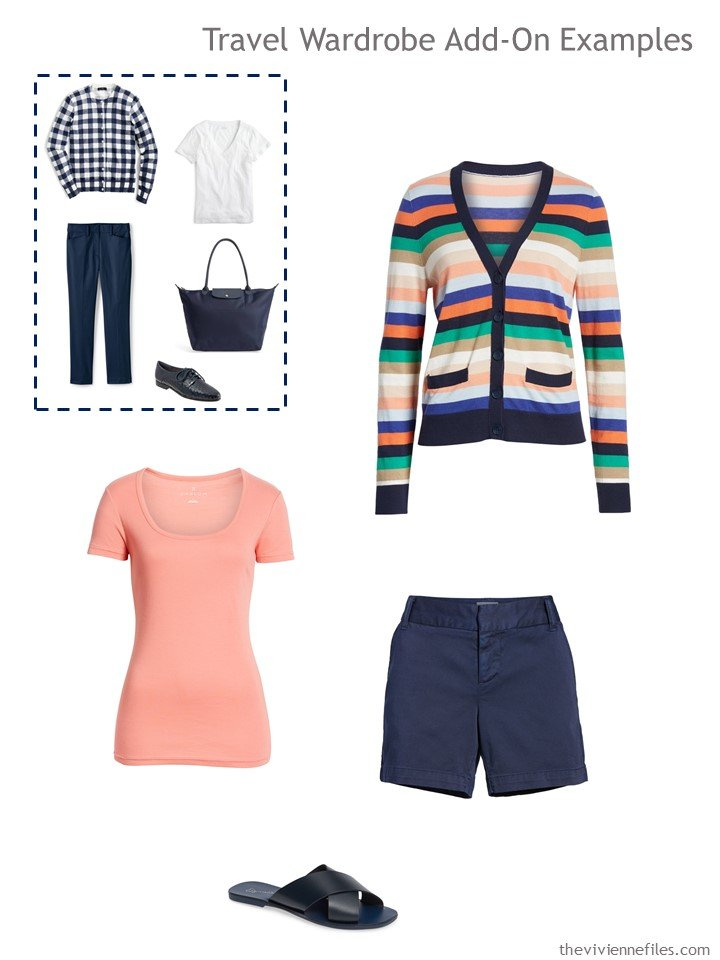 5. 1st outfit to pack in navy and peach