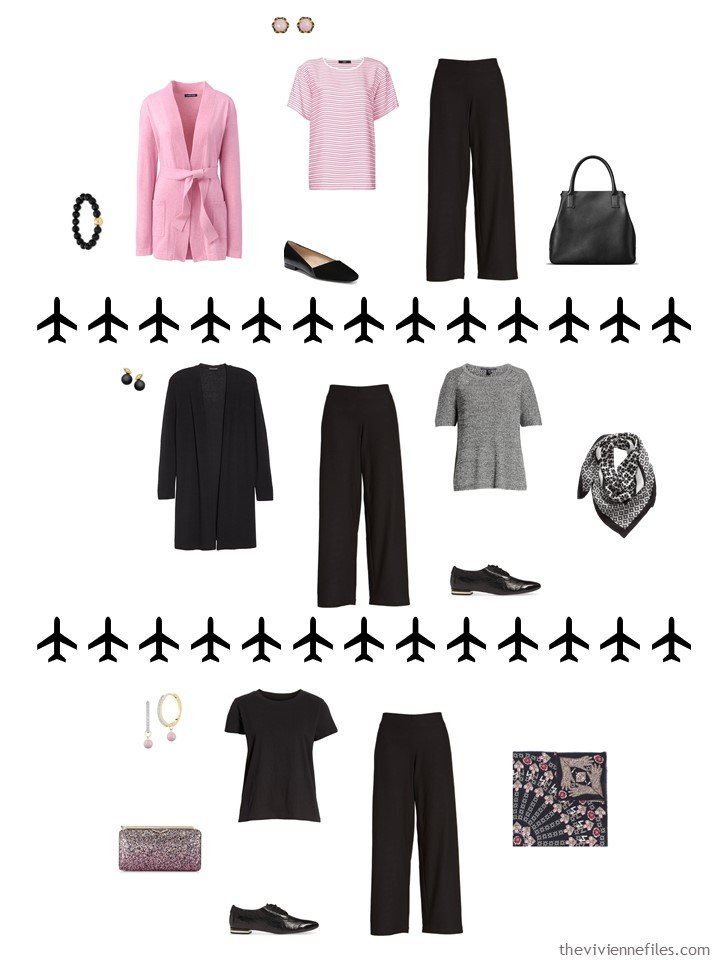5. 3 ways to wear black pants from a travel capsule wardrobe