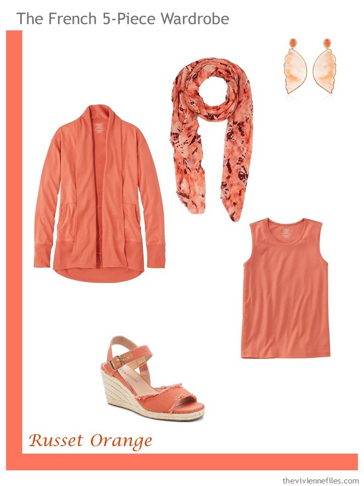 6. French 5-Piece Wardrobe in Russet Orange