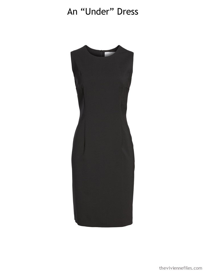 7. black wool HUGO sheath dress