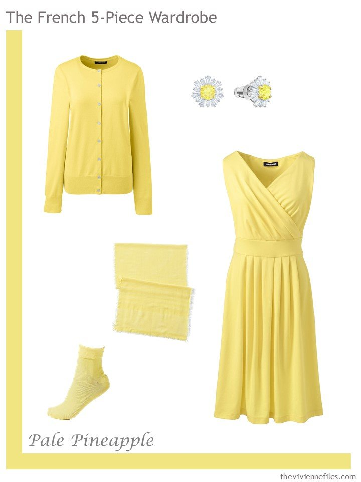 9. French 5-Piece Wardrobe in Pale Pineapple