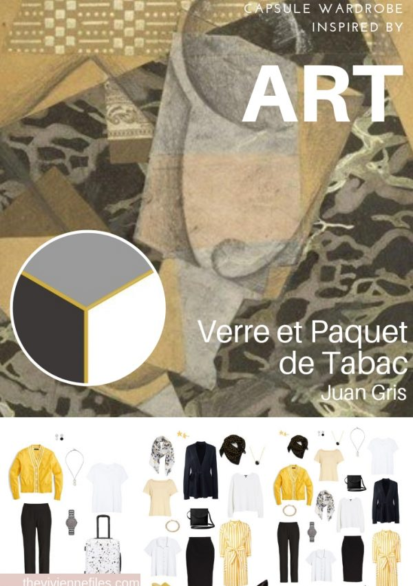 CREATE A TRAVEL CAPSULE WARDROBE – START WITH ART: VERRE ET PAQUET DE TABAC BY JUAN GRIS