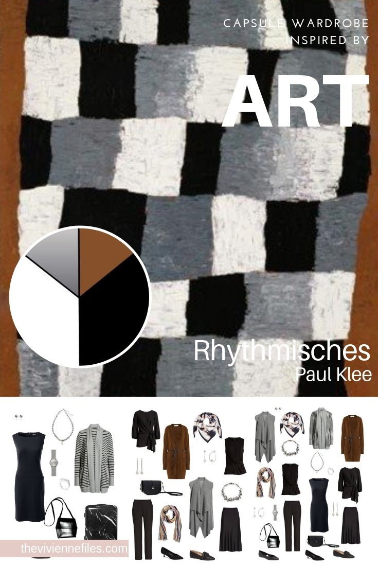 Create a Travel Capsule Wardrobe - Start with Art: Rhythmisches by Paul Klee