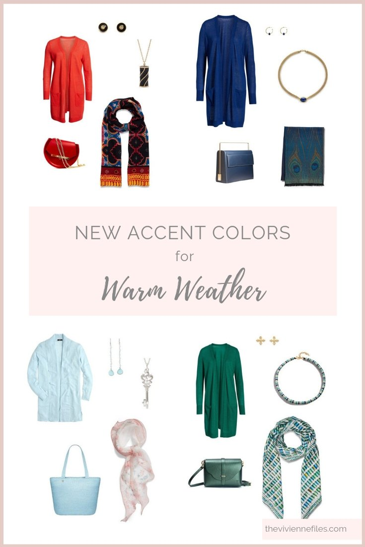 ADD ACCENT COLORS TO YOUR WARDROBE FOR SPRING OR WARM WEATHER