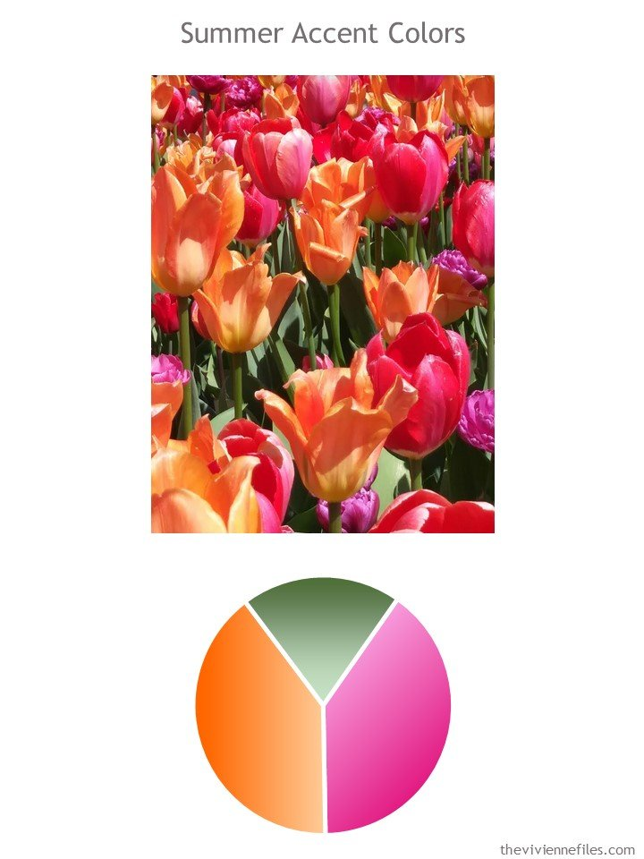1. Chicago tulips and color palette