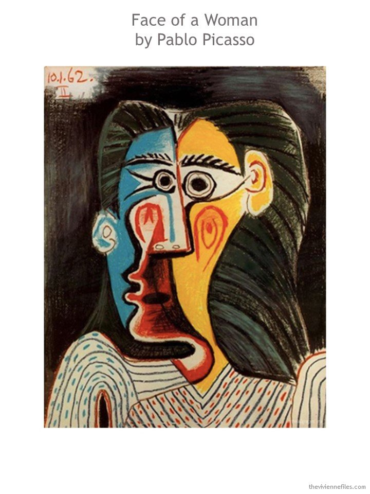 1. Face of a Woman by Picasso