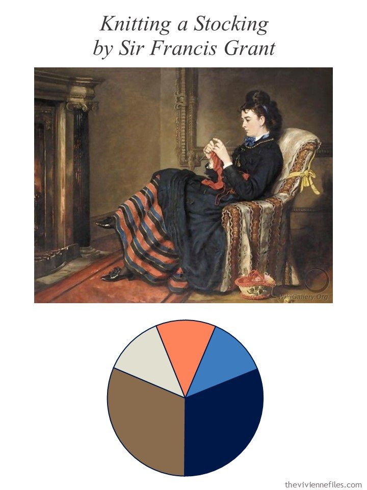 1. Knitting a Stocking by Grant with color palette