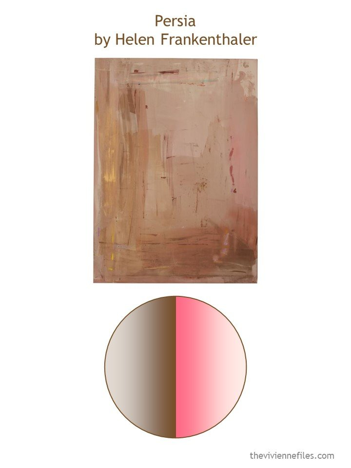 1. Persia by Helen Frankenthaler with color palette