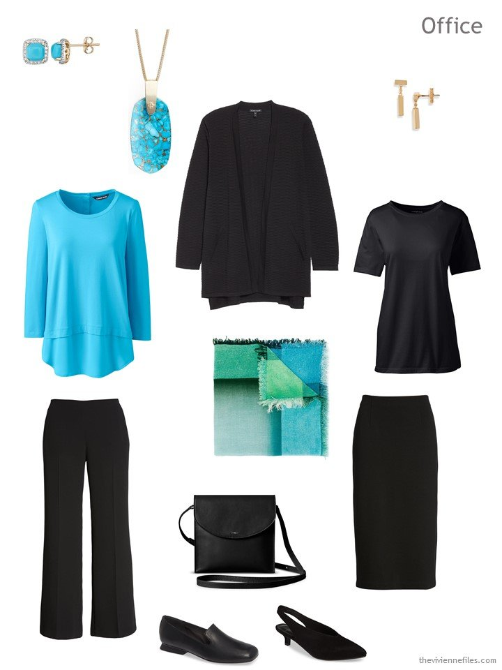1. a 5-piece wardrobe cluster for day